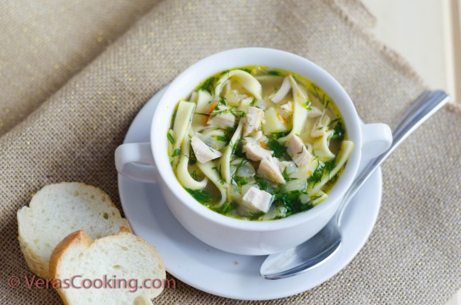 Easy Chicken Soup/ Chicken Noodle Soup/ Vera's Cooking/ Verascooking.com