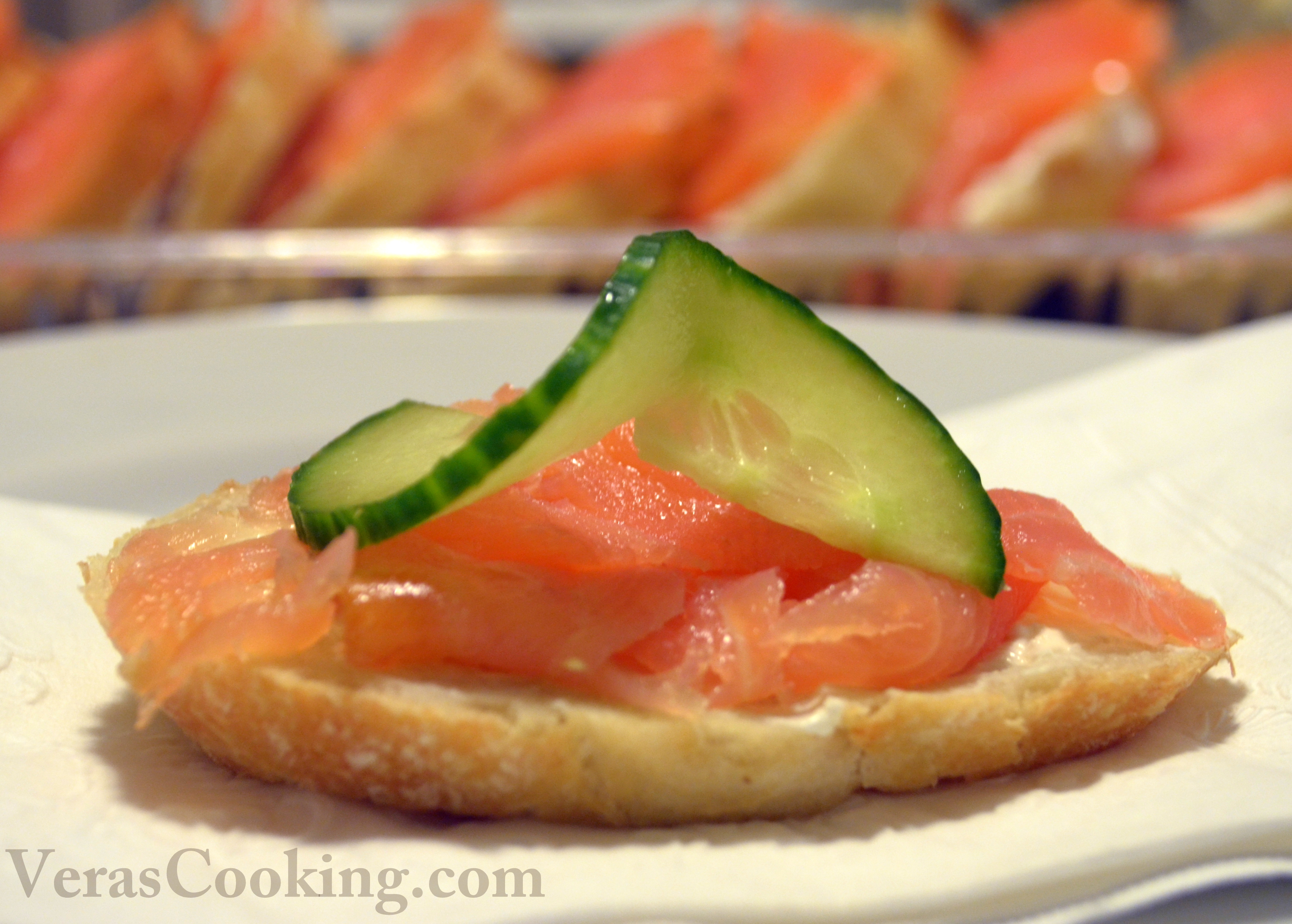 Smoked salmon canapes vera 39 s cooking for Smoked salmon canape