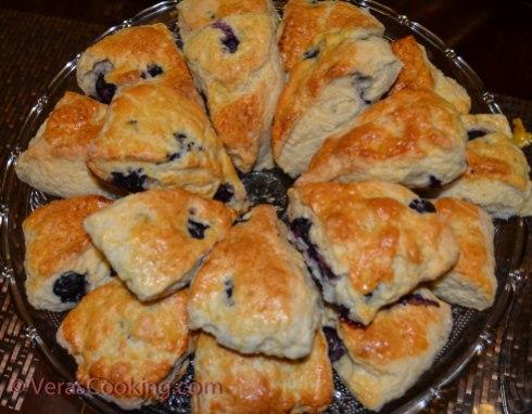 Blueberry Scones/ Vera's Cooking/ Verascooking.com/